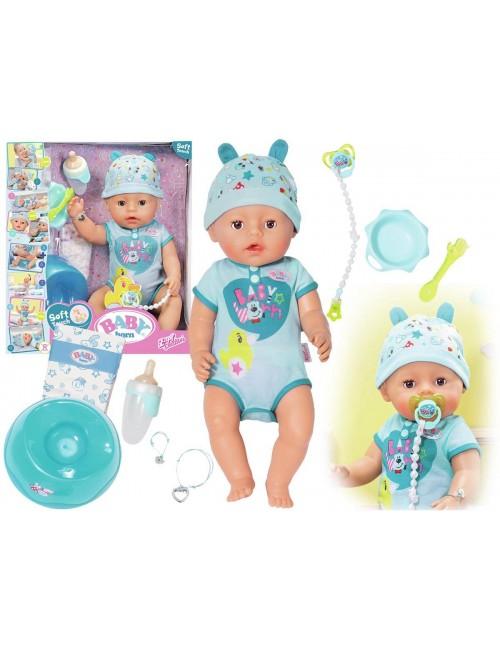 Baby Born Chłopiec Braciszek Interaktywna Lalka z Akcesoriami Zapf