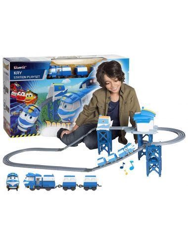 Robot Trains Stacja z Pociągiem Kay Pojazd Niebieski 80170 Cobi