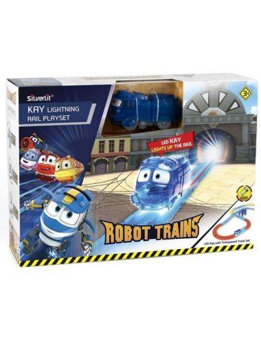 Robot Trains Świecący Kay Zestaw z Torami Pociąg 80187 Cobi