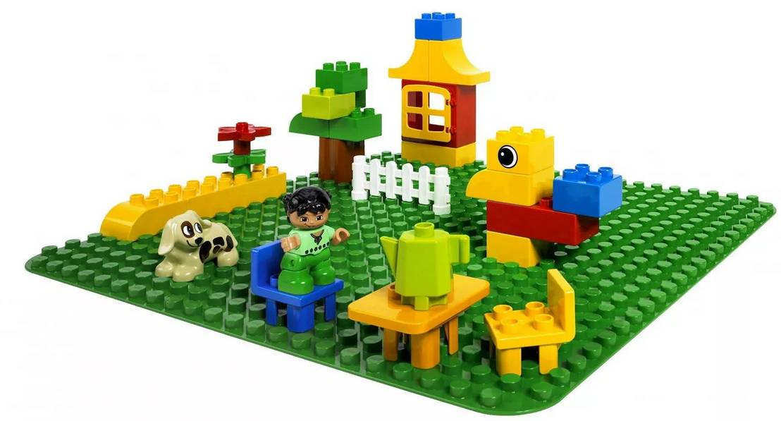 LEGO Duplo duża płytka budowlana zielona 2304