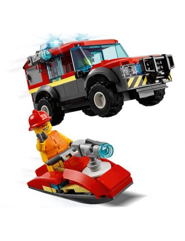 LEGO City Remiza Strażacka Dron Terenówka 60215