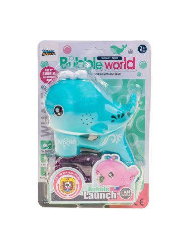 Wanna Bubbles Pistolet Na Bańki Delfin Niebieski Świeci BB642