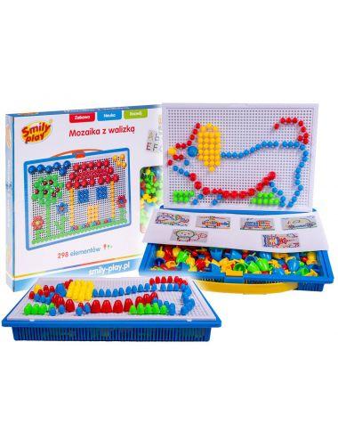 Smily Play Mozaika z Walizką Układanka Guziki Zestaw SP83643