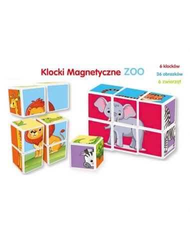 Smily Play Klocki Magnetyczne ZOO Zwierzęta Układanka SP83644