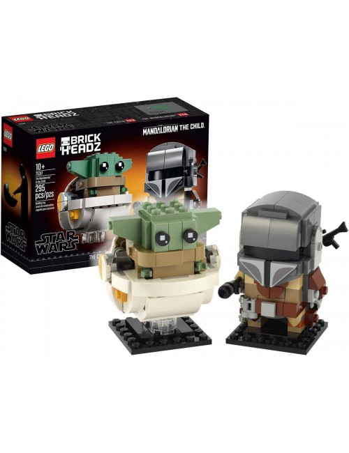 LEGO STAR WARS Mandalorianin i Dziecko BrickHeadz 75317