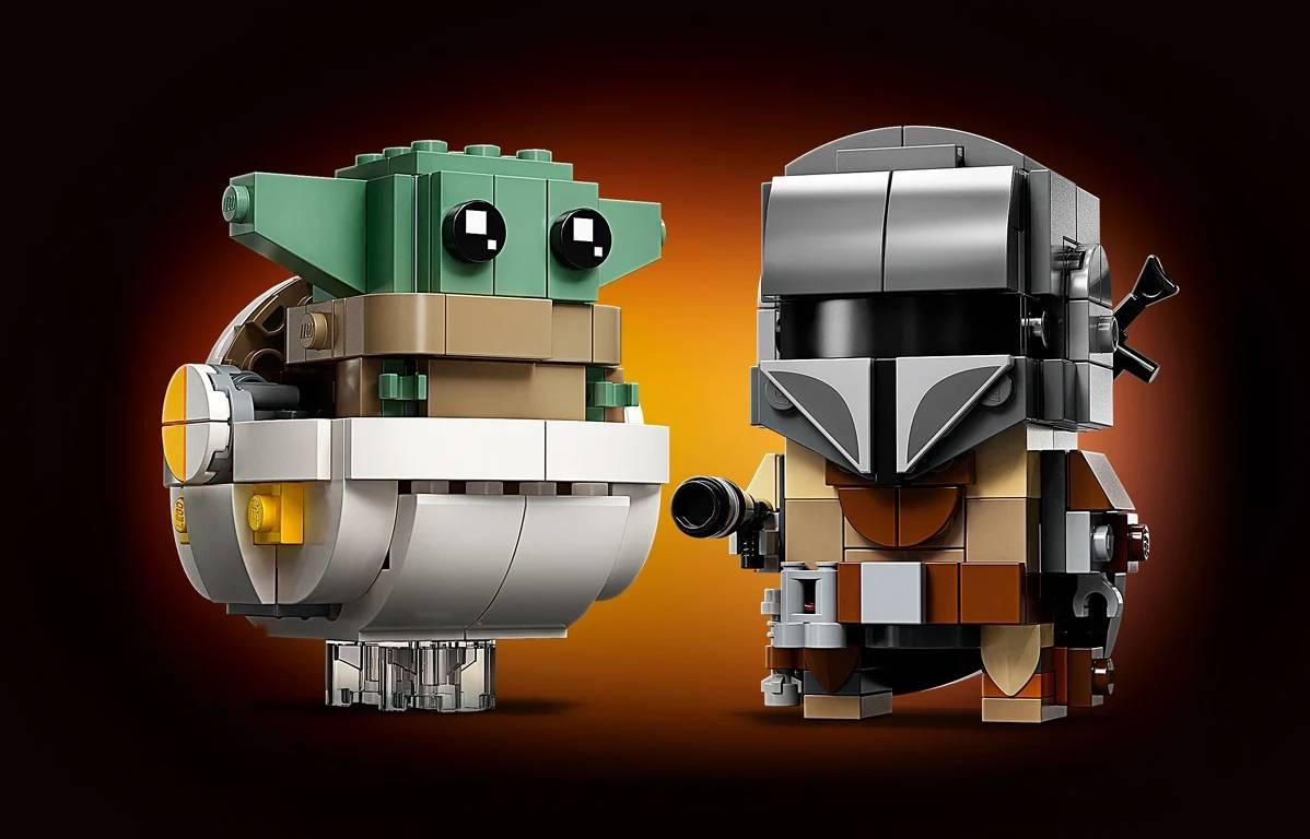 LEGO BRICKHEADZ Star Wars mandalorianin i dziecko 75317