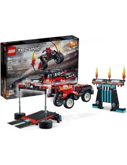 LEGO Technic Furgonetka i Motocykl Kaskaderski 42106