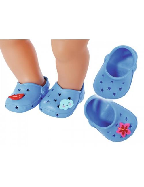 Baby Born Buciki Crocsy Holiday z Przypinkami Niebieskie 828311