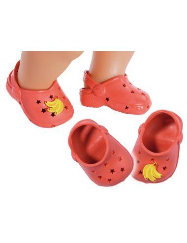 Baby Born Buciki Crocsy Holiday z Przypinkami Czerwone 828311