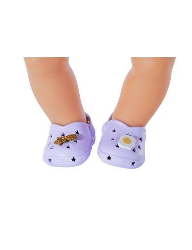 Baby Born Buciki Crocsy Holiday z Przypinkami Fioletowe 828311
