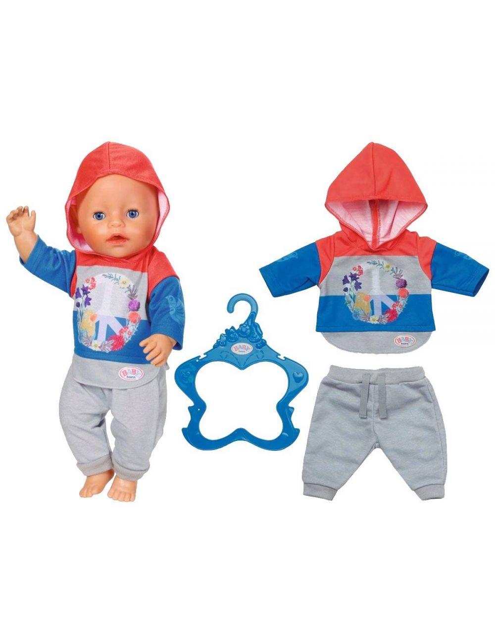 Baby Born Modny Dresik Ubranko Casualowe Niebieski 826980