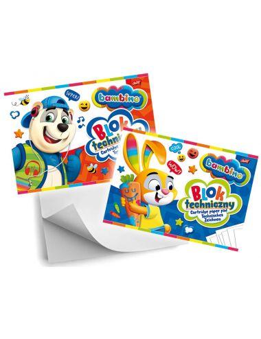 BAMBINO Blok Techniczny A4 10 Kartek Biały