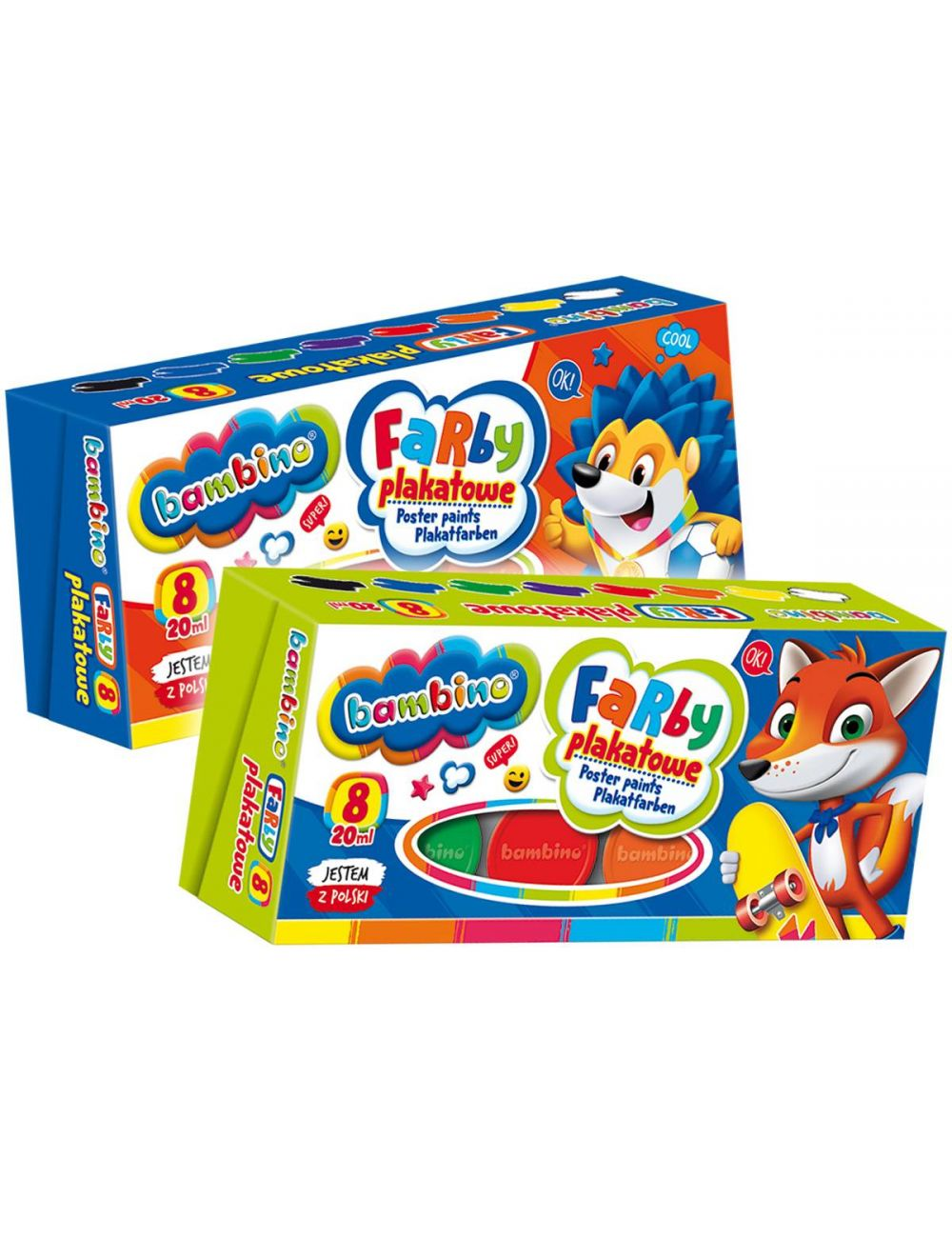 BAMBINO Farby Plakatowe dla dzieci 8 kolorów 5004995