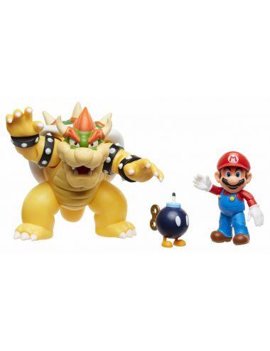 Super Mario Zestaw Mario vs Bowser Diorama S1 Lava Battle 64512