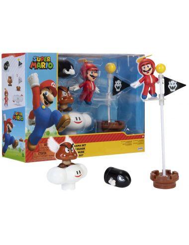 Super Mario Zestaw Cloud Diorama z Figurkami 401994