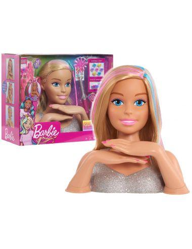 Barbie Głowa Blond do Stylizacji Glitter Deluxe 63575