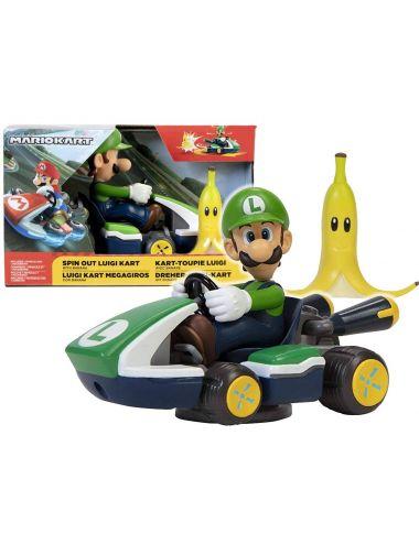 Super Mario Obracający się Gokart Samochód Luigi 40875