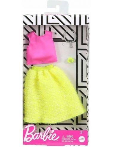 Barbie Ubranko dla Lalki Komplet Neon Modne Kreacje GHW82