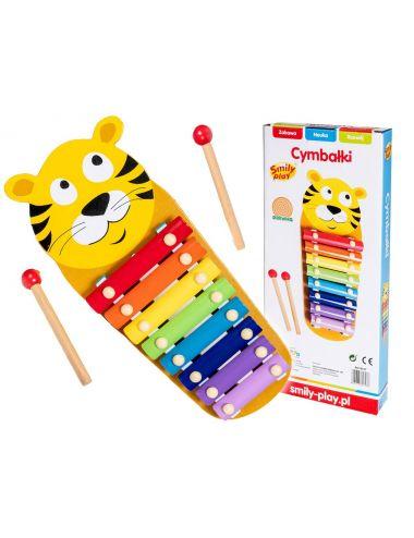 Smily Play Cymbałki Tygrys Drewniane + Pałeczki