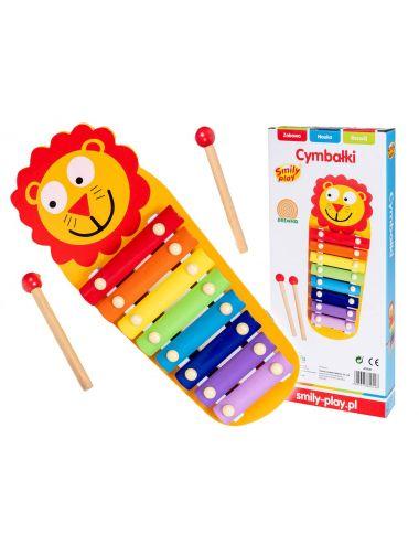 Smily Play Cymbałki Kolorowe z Lwem Drewniane