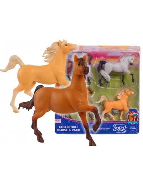 Spirit Konie Tiger Camilo Chica Espada figurki kolekcjonerskie 4-pak