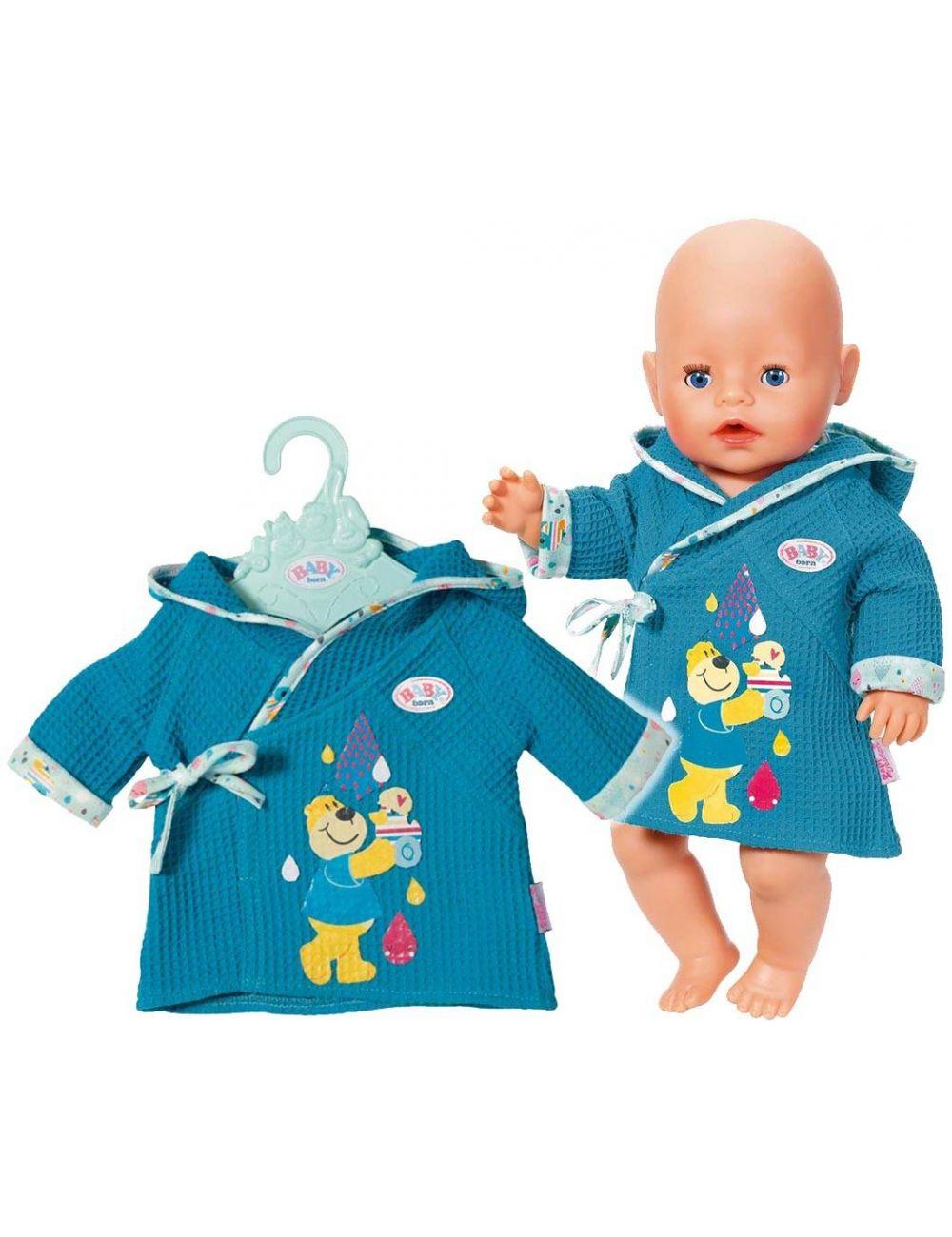 Baby Born Szlafroczek Ubranko Dla Lalki 827505 Niebieski