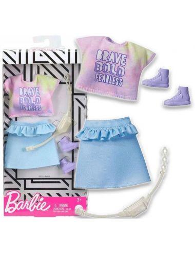 Barbie Ubranko dla Lalki Bluzeczka i Spódniczka Modne Kreacje GHW86