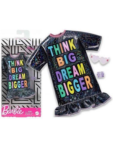 Barbie Ubranko dla Lalki Sukienka Brokatowa Modne Kreacje GHW87
