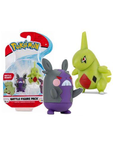 Pokemon Figurka Larvitar i Morpeko Battle