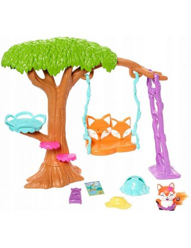 Enchantimals Plac Zabaw Lalka Felicity Fox i Lisek Flick FRH45 Mattel