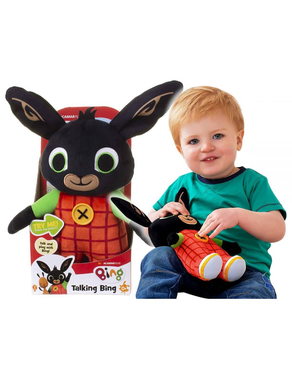 BING Mówiący królik pluszowy interaktywna maskotka 30cm PL