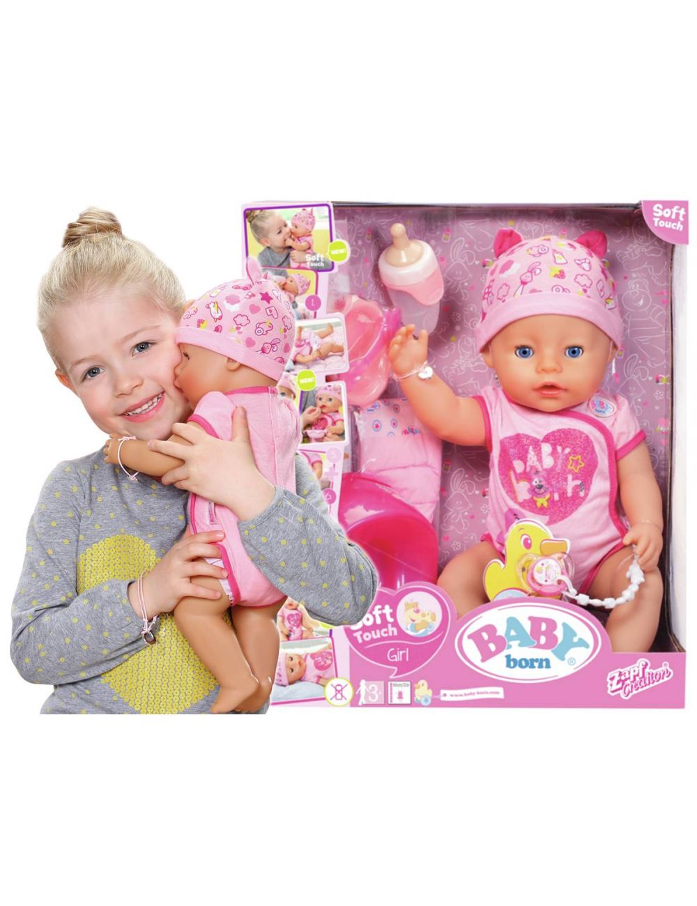 Baby Born Lalka Interaktywna Dziewczynka Soft Touch 824368