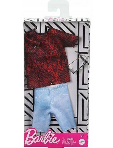 Barbie Ubranko dla Kena Koszulka Jeansowe Spodenki GHX50