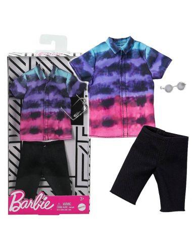 Barbie Ubranko dla Kena Koszula Kolorowa ze Spodniami GHX52