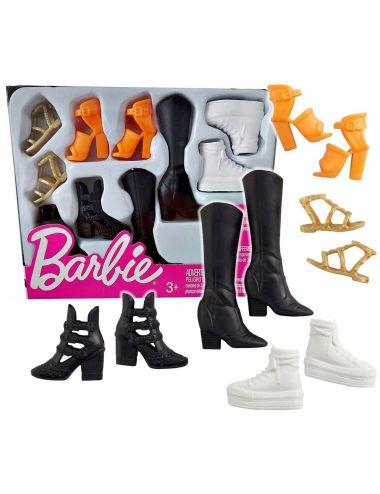 Barbie Modne Buty dla Lalki Zestaw 5 par FCR92
