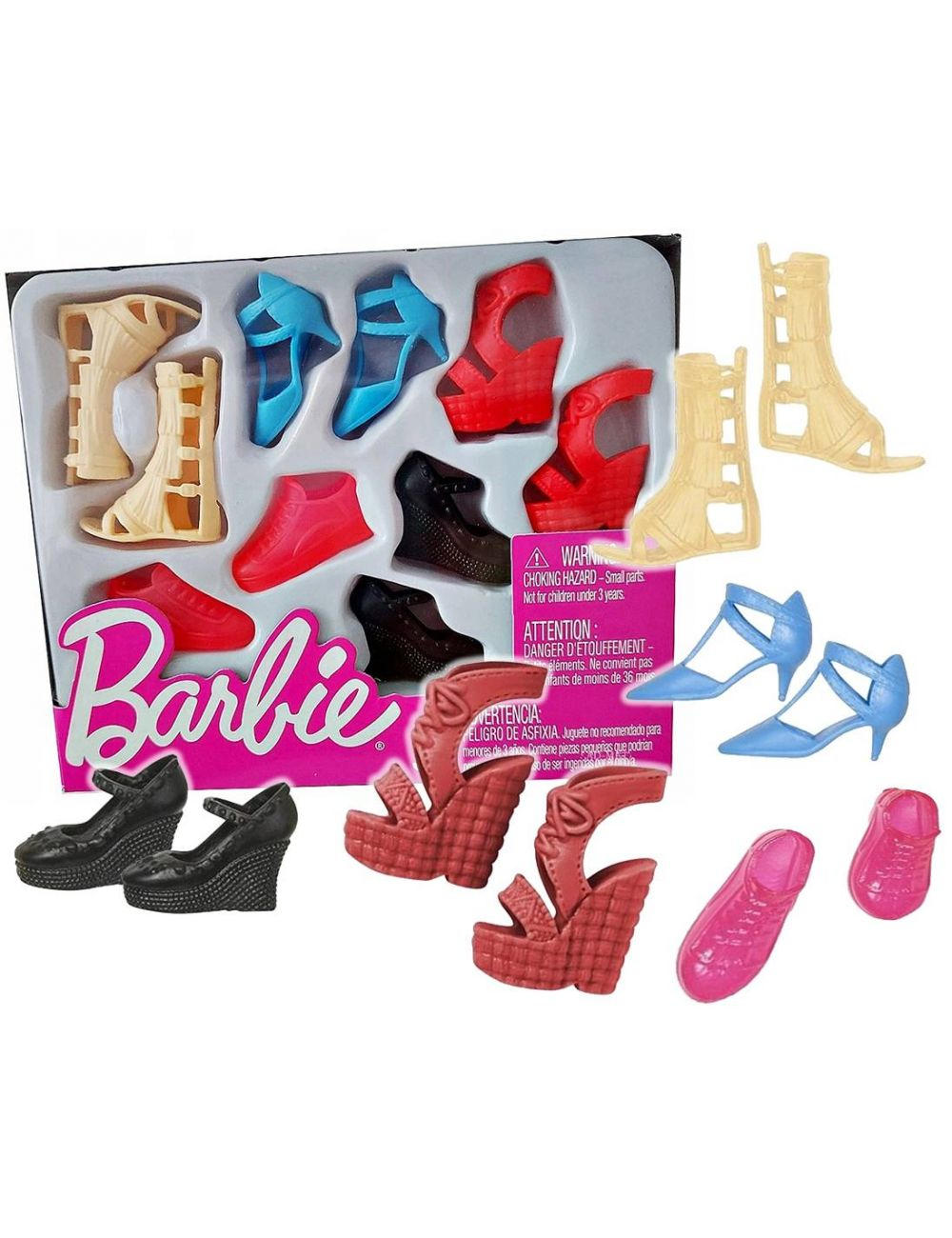 Barbie Modne Buty dla Lalki Zestaw 5 par FCR93