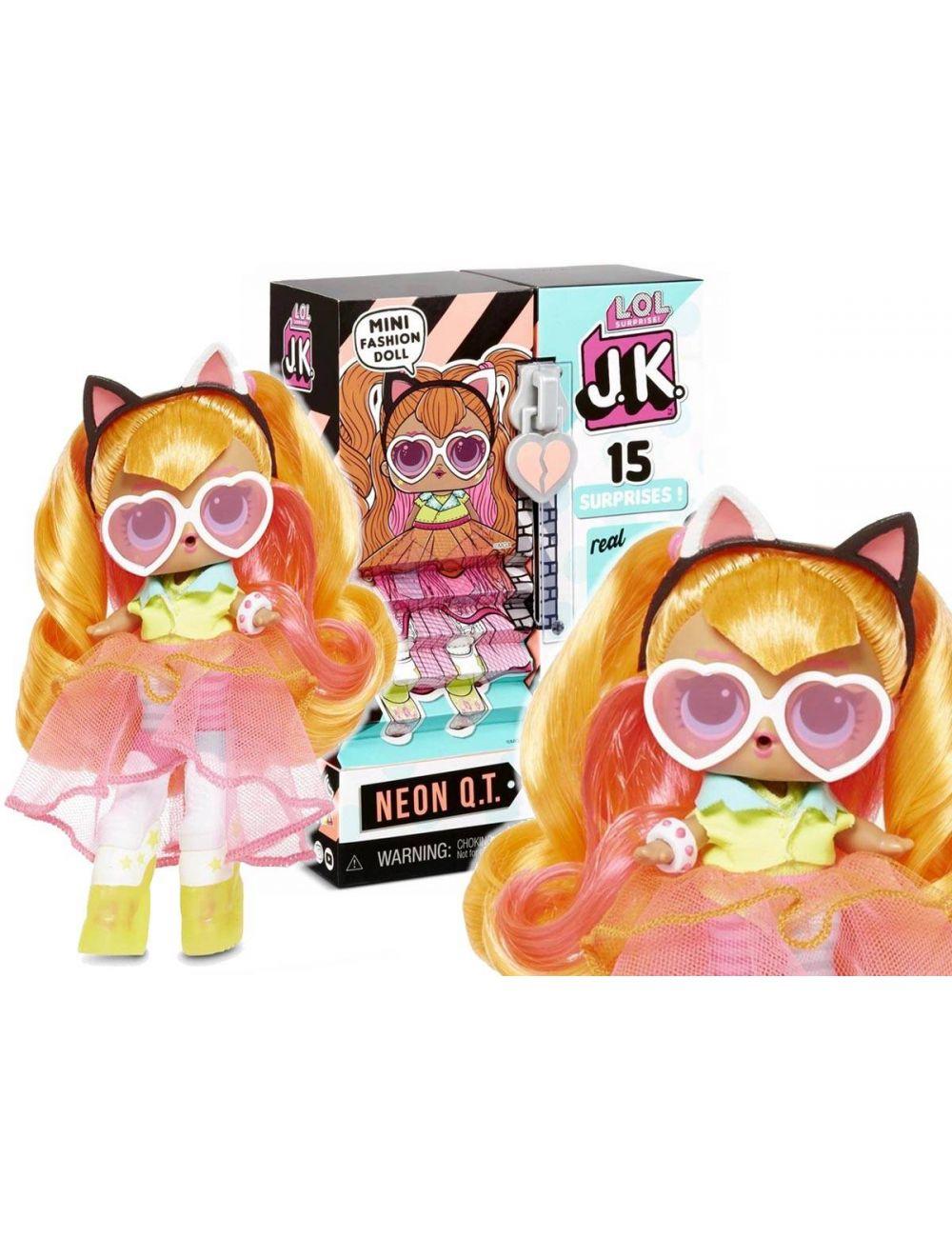 LOL Surprise J.K. Neon Q.T. lalka z butami na wysokich koturnach