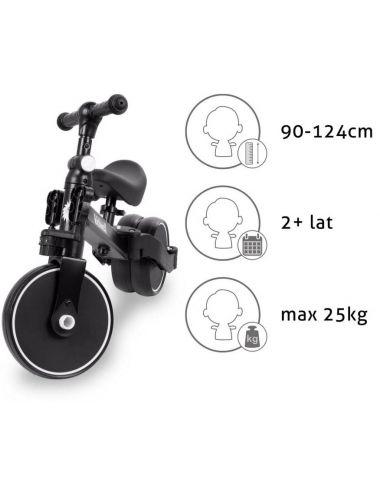 Kidwell Pico Black Rowerek 3w1 Trójkołowy Czarny