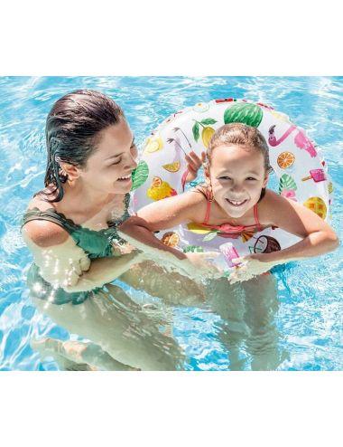 INTEX Koło do pływania we wzorki 61 cm
