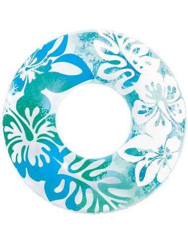 INTEX Koło do pływania w hawajskie kwiaty 91 cm