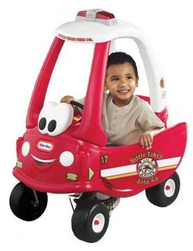 Little Tikes COZY Straż Pożarna Jeździk Samochód Pchacz Czerwony