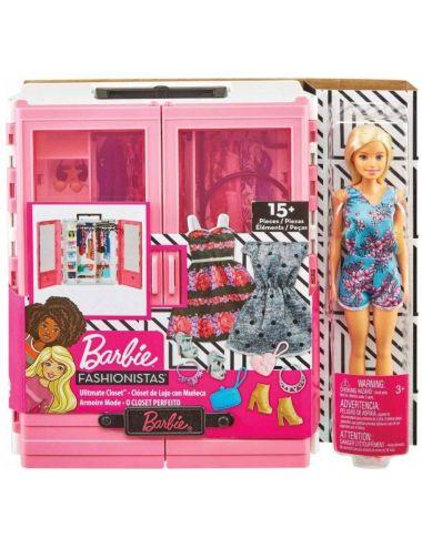 Barbie Szafa na Ubranka Garderoba z Lalką Fashionistas GBK12 Mattel