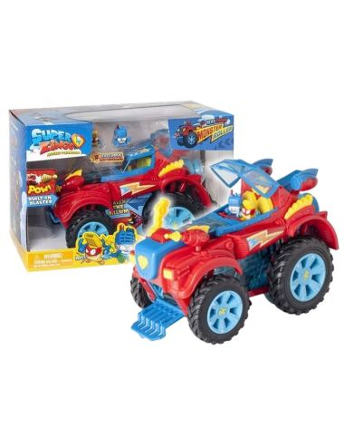 SUPER ZINGS 3 Zestaw Monster Truck + 2 Figurki
