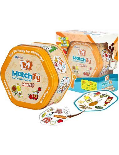 Gra Rodzinna Matchify MadeOf Edukacyjna Karciana 9000D