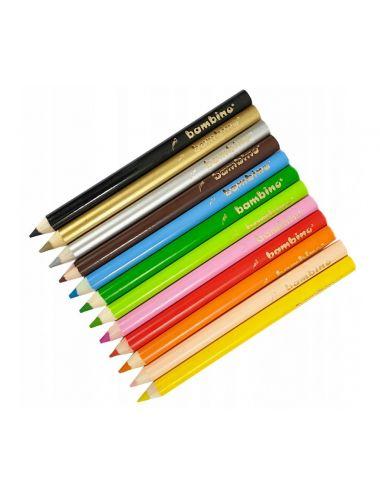Kredki BAMBINO w Drewnianej Oprawie 12 Kolorów 5000294