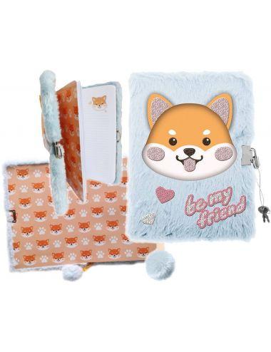 Pamiętnik z Kłódką 3D Włochacz HAPPY DOG A5 34994