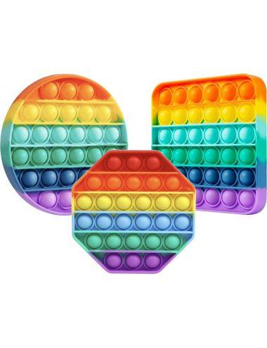 Pop It Bubble Fidget Zabawka Antystresowa Sensoryczna Tęczowa