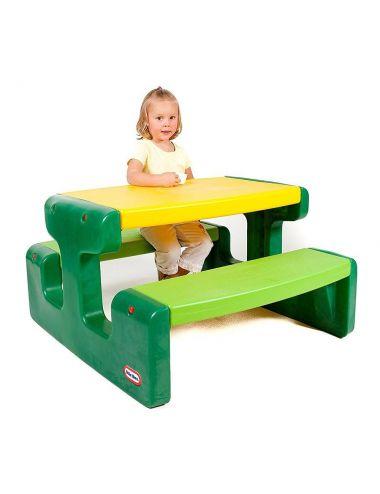 Little Tikes STOLIK PIKNIKOWY Stół z Siedzeniem Zielony Duży 6 os.