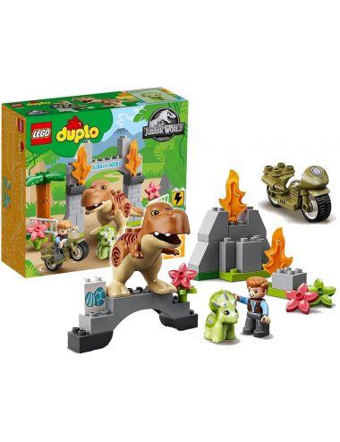 LEGO Duplo Ucieczka Tyranozaura i Triceratopsa Klocki 10939