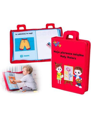 Jolly Baby Moja Pierwsza Książka Mały Malarz Materiałowa PL 80468